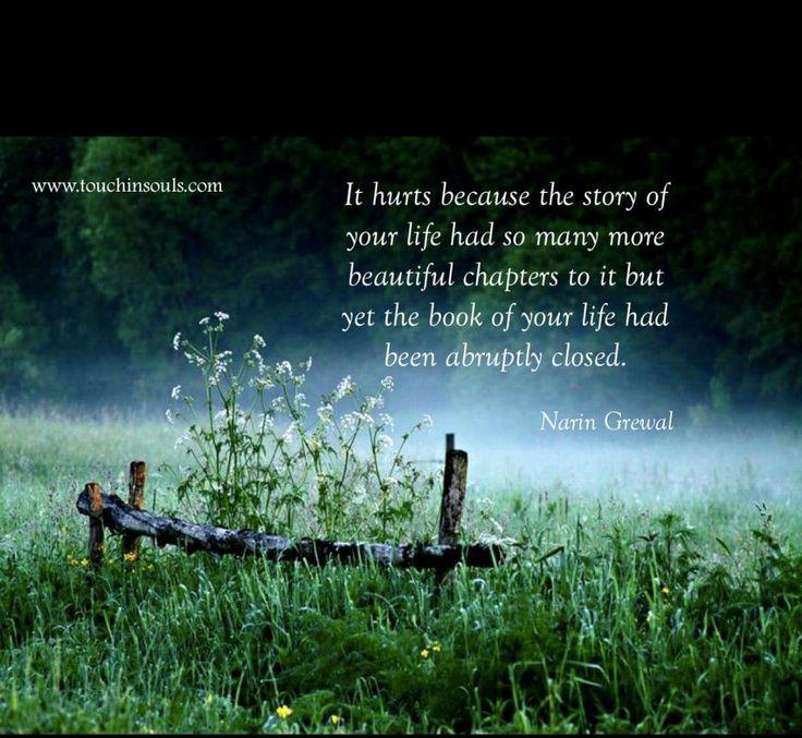 So very true. Missing my son so very much.