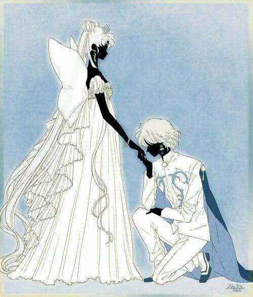 Prince Diamond and Neo Queen Serenity From Sailor Moon Forever on Facebook
