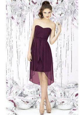 Elegant Sweetheart A-line Hi-Low Cheap Bridesmaid Dresses Online