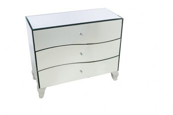 3-drawer wavy style chest