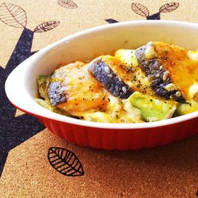 中華風♪鮭のお豆腐クリームグラタン
