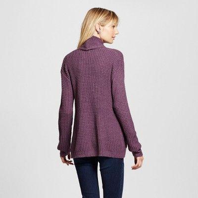 Women's Textured Open Layering Cardigan - Merona Purple XL