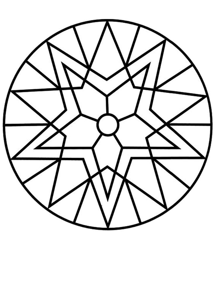 Mejores 69 imágenes de Coloring Book Mandalas en Pinterest | Libro ...