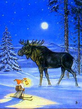 Tomten Moose Moon - Northern night