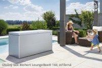 Úložný box LoungeBox® 160, stříbrná metalíza
