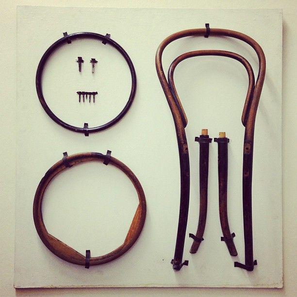 Chair No. 14, disassembled, via Things Organized Neatly.