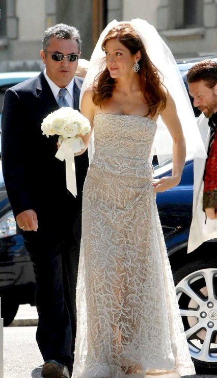 Sasha Alexander wedding dress :) | celebs in wedding ...