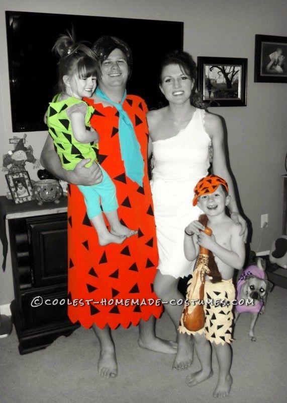handmade flintstone family costumes - Flinstones Halloween