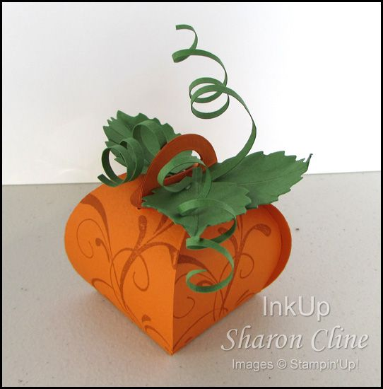 Perky Pumpkin Treat Box Image · InkUp - Sharon Cline, Independent Stampin'Up! Demonstrator, Purcellville Virginia