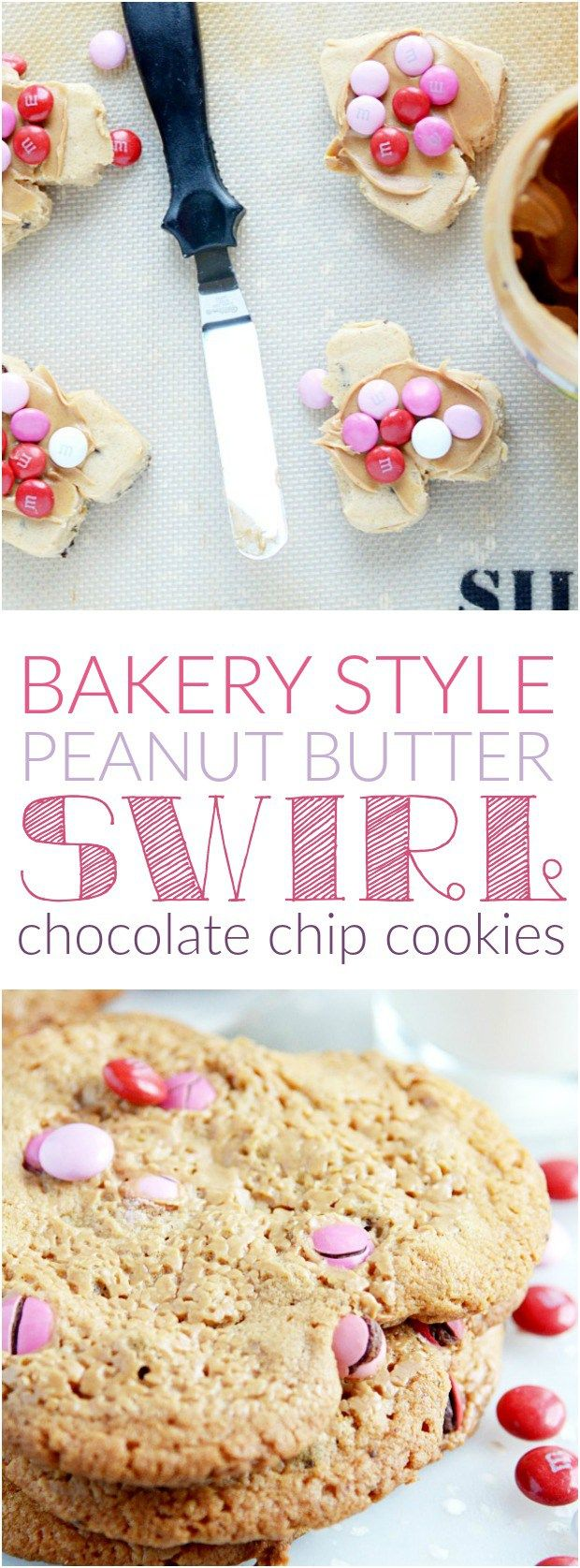 Bakery Style Peanut Butter Swirl Chocolate Chip Cookies | Bakeries ...
