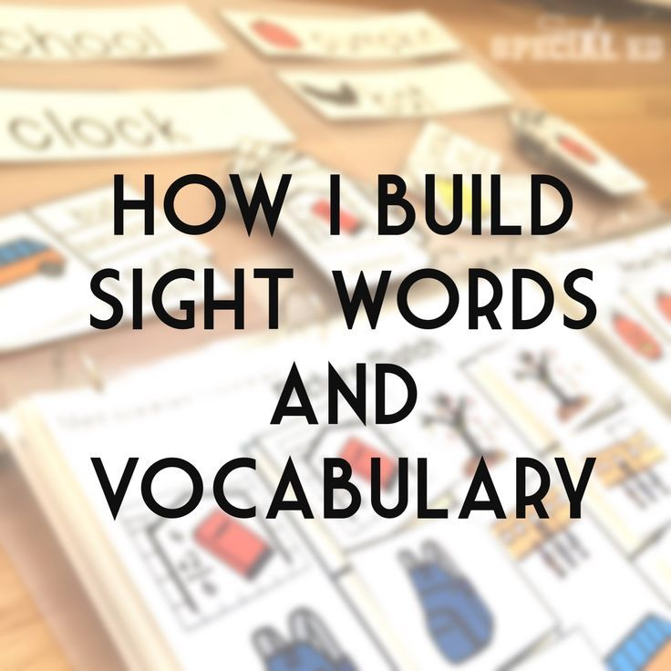 Click through to see how one special education teacher uses sight words and vocabulary to help her students master this basic skill all year round. She teaches in an autism classroom with ability levels ranging from 9 months to 7 years old, but these activities and ideas work for ALL of her students in some way due to the differentiation. Click through to see exactly how to make this work for you too!