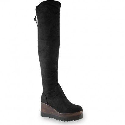Μαύρη μπότα με πλατφόρμα