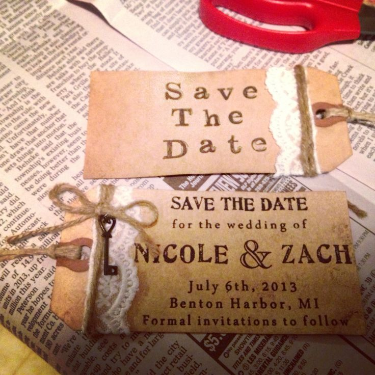 Diy save the date in Brisbane