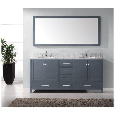Website Photo Gallery Examples Best Deal Virtu USA Transitional Double Sink Bathroom Vanity Set Grey GD