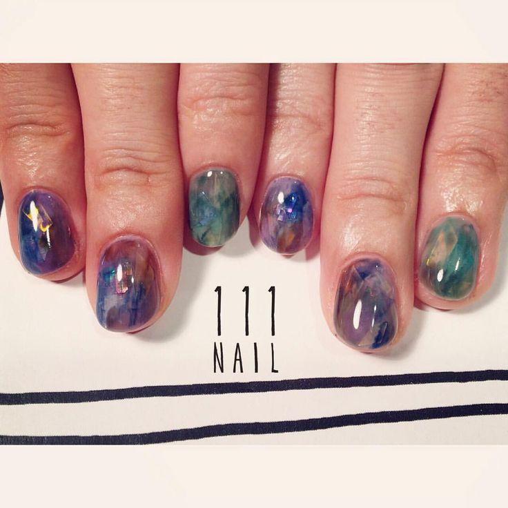 ▫️◽️◻️ #nail#art#nailart#ネイル#ネイルアート#大理石ネイル#aurora#Amethyst#emerald#Treasure#cool#nuance#ennui#ショートネイル#nailsalon#ネイルサロン#表参道#大理石111#nuance111#ennui111