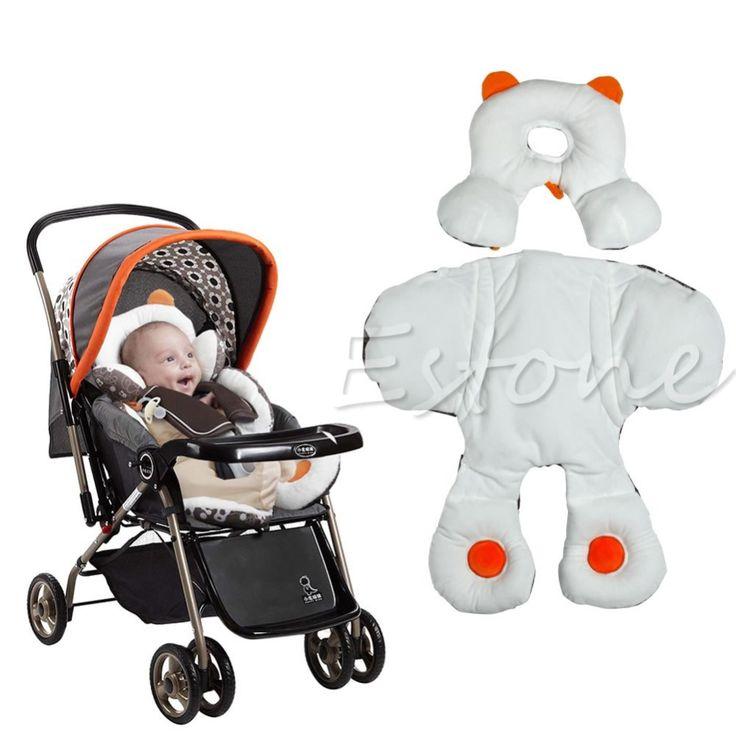 ソフト赤ちゃん合計ヘッド&ボディサポート幼児乳母車ベビーカーカーシートクッション枕