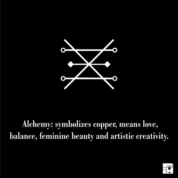 Alchemy: Symbolizes copper, means love, balance, feminine beauty and artistic creativity