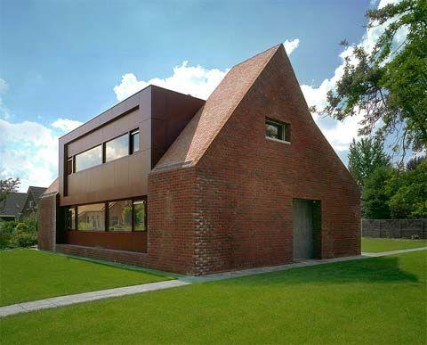 Best 25 modern brick house ideas on pinterest - Small belgian houses brick ...