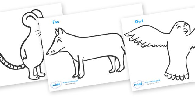 Twinkl Resources >> The Gruffalo Colouring Sheets