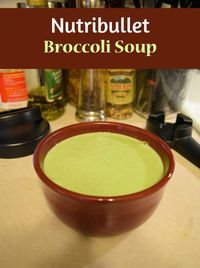 Nutribullet RX broccoli soup. The Nutribullet Rx has a heating element for great soup recipes. This soup can also be made in a regular blender and heated or run long enough for the blender blade action to heat it.
