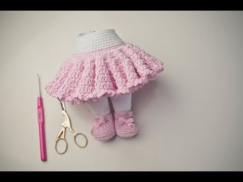 Tutorial Rock häkeln / Amigurumi - YouTube
