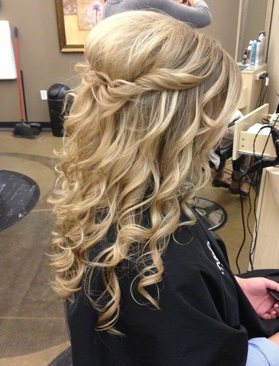 Hair ideas homecoming hairstyles half up long hair prom hairstyles
