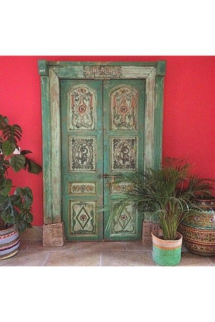 Red India Door - See the most beautiful doors from all around the world courtesy of Door J'adore pics from their regular Instagram takeovers on the House & Garden account.