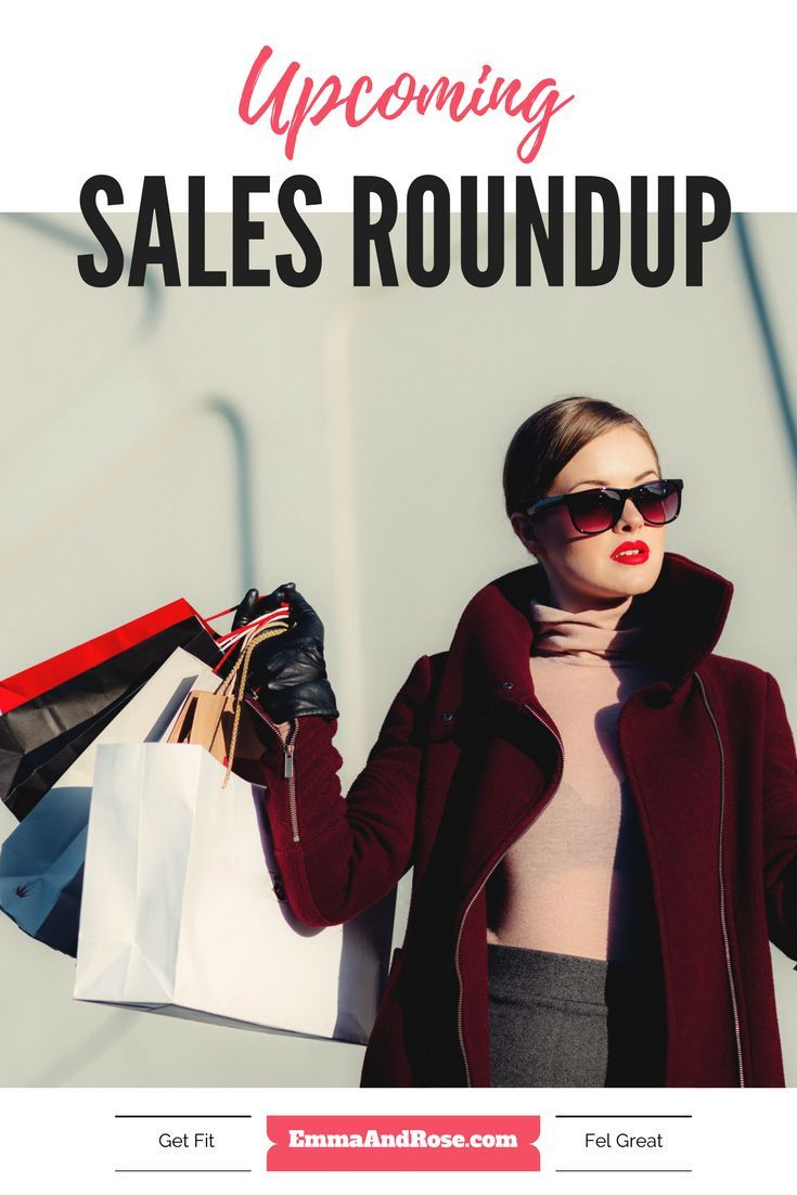 Check out this upcoming sales roundup. Go reward yourself for working hard to be active this week. Happy shopping peeps! www.EmmaAndRose.com
