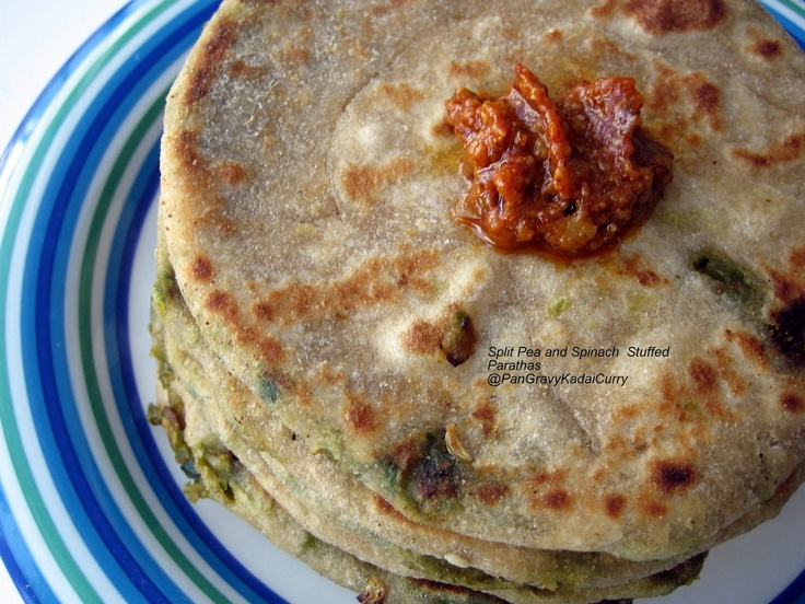 Split-Pea & Spinach Stuffed Paratha