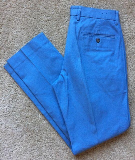 J. CREW Men's 'BOWERY' Slim Fit Flat Front SKY BLUE Khaki Pants Size 29 SLIM | eBay