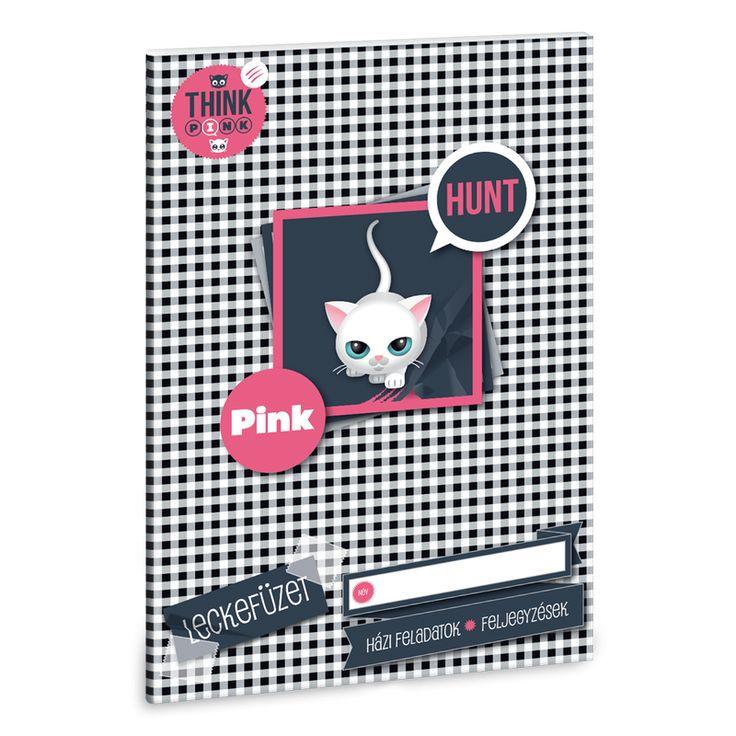 Ars Una Think-Pink A/5 füzetborító alsós-felsős lányoknak