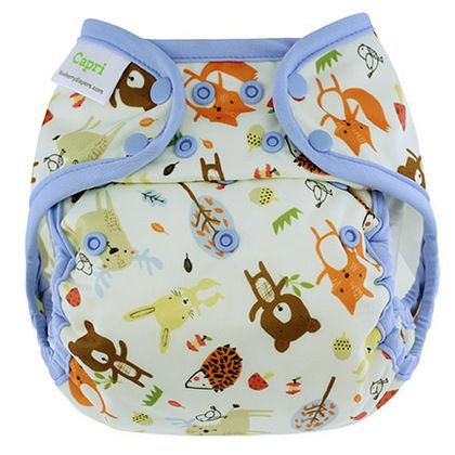 NEW! Blueberry Capri Nappy Wrap: Woodland Friends