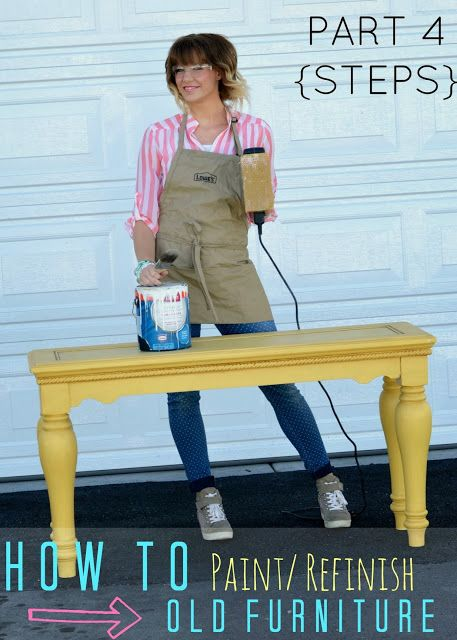Painting Wood Furniture {Pinners Class PART FOUR} TUTORIAL