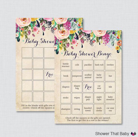 baby shower baby shower bingo baby hands bingo cards blank cards baby