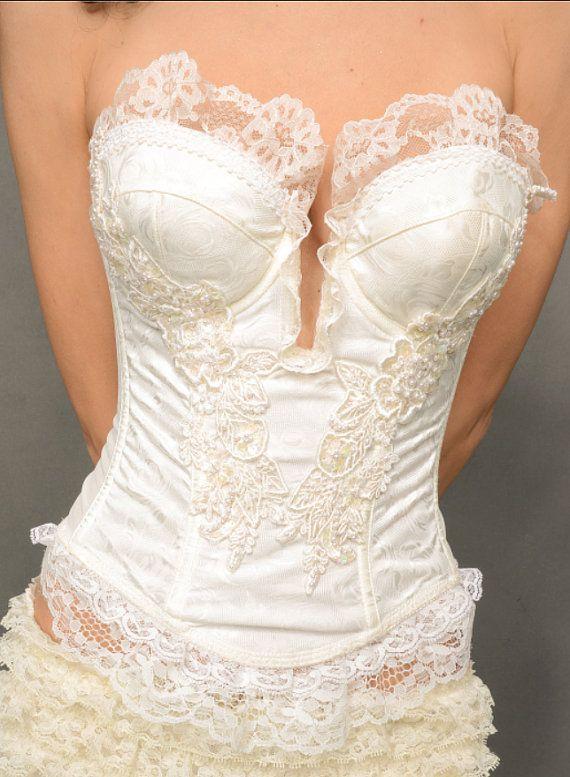 Envie d'Ivoire bustier Lingerie de mariage par gypsecouture sur Etsy