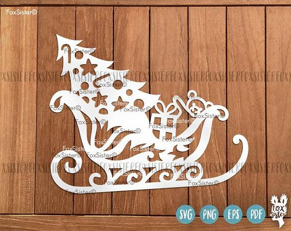 Santas sleigh svg | Sleigh svg cut file | Christmas svg | Gifts svg, Presents svg | Toys svg | Silhouette | vinyl decal | Cricut, Cameo For personal and commercial use. -------------------------------------------------------------------------------------------------- Christmas trees BIG SVG Bundles each with 8 designs: ❆ Christmas Trees SET 2 : https://www.etsy.com/uk/listing/557135129/8-christmas-trees-svg-bundle-set-2-8-svg ❆ Christmas Trees SET 3 : https:&#x...