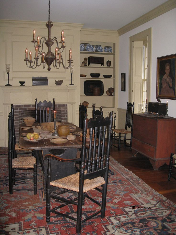 213 Best Colonial Dining Rooms Images On Pinterest  Colonial Simple 107 Dining Room Inspiration