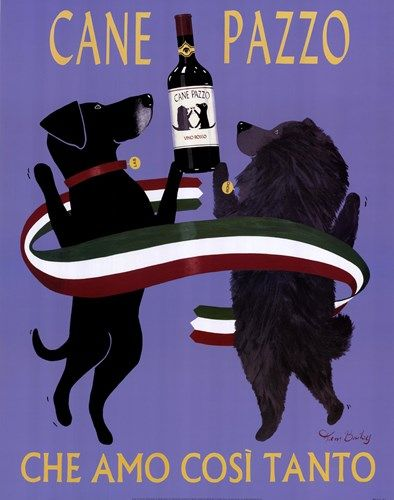 Cane Pazzo poster by Ken Bailey