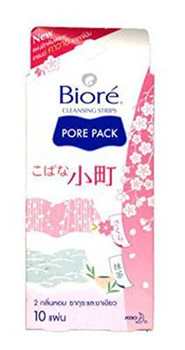 6 Packs of Biore Cleasing Strips Pore Pack 2 Scent Sakura and Green Tea with Japanese Print 10 Strips  Pack >>> Read more reviews of the product by visiting the link on the image.