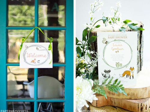 My Owl Barn: Woodland Baby Shower + Free Printables
