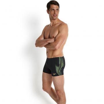 Endurance Plus Erkek Aquashort Yüzücü Mayosu - Siyah/Yeşil