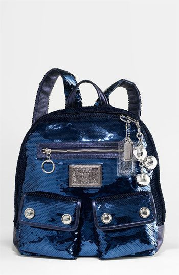 COACH POPPY SEQUIN BACKPACK