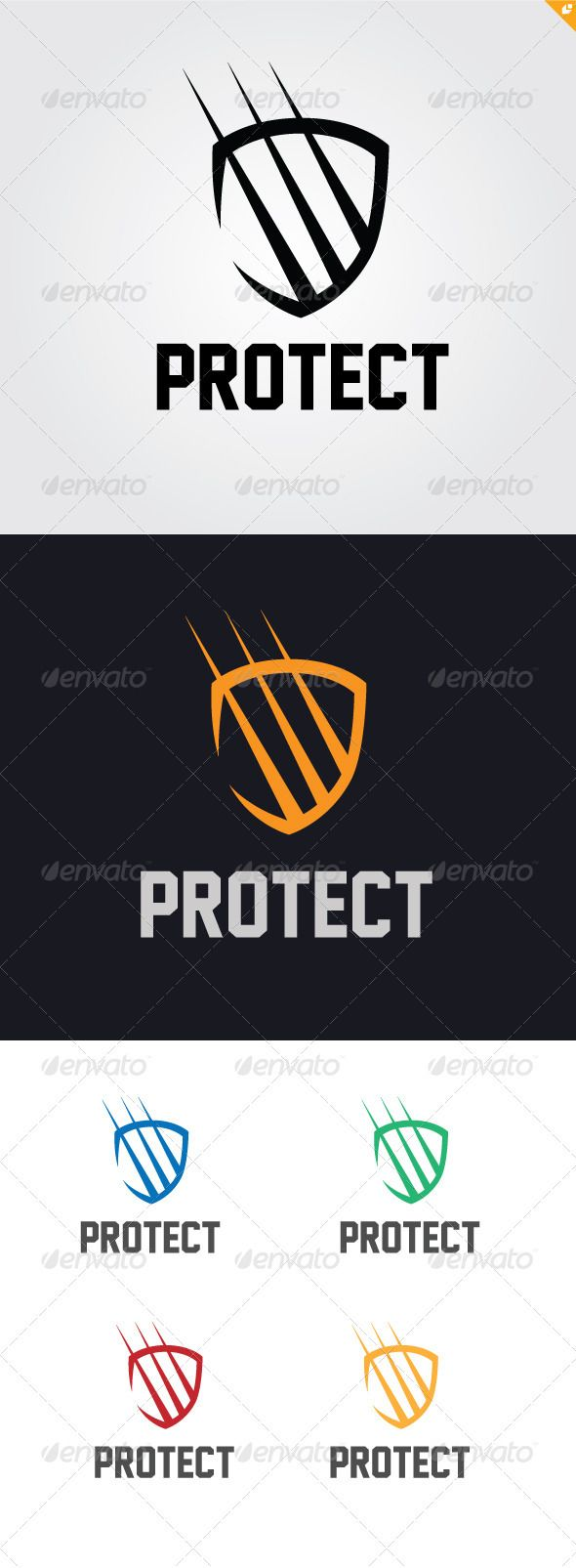 Protect Logo  #GraphicRiver        Protect – Logo Template  	 This logo design for security program,creative business and unique design.  Logo Template Features   AI and EPS (Illustrator 10 EPS ) 300PPI  CMYK   100% Scalable Vector Files  Easy to edit color / text  Ready to print  Free font used 	 Jersey M54   My Logo Templates Designs     	 If you buy and like this logo, please remember to rate it. Thanks!     Created: 6November12 GraphicsFilesIncluded: VectorEPS #AIIllustrator Layered: No ...