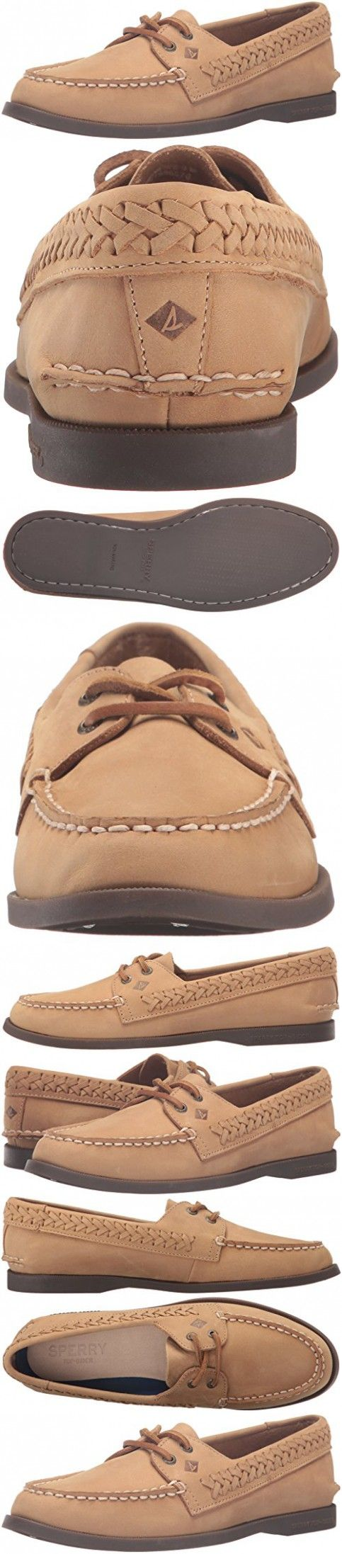 Sperry Top-Sider Women's Ao Quinn Boat Shoe, Tan, 8.5 M US