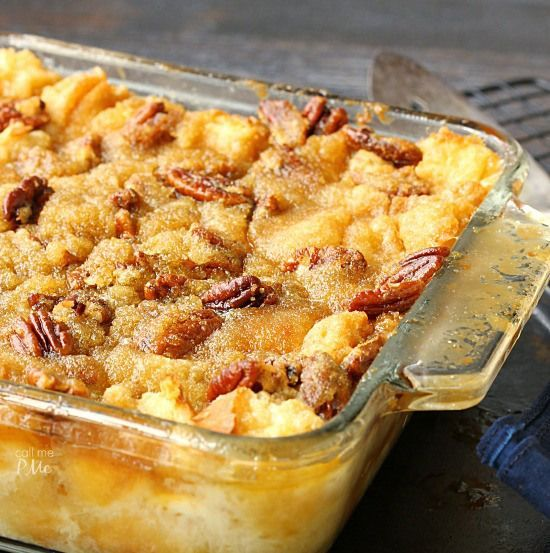 Pecan Pie Bread Pudding, if you like bread pudding and you like pecan pie, you'll love this creamy, crunchy dessert.