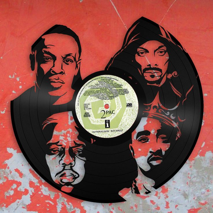 Tupac, Notorious Big, Snoop Dogg, Dr Dre, Rappers Gift, DJ Gift, Wall Art, Record Wall Decor, Man Cave Wall Sign, Repurposed Music Gift by VinylShopUS on Etsy