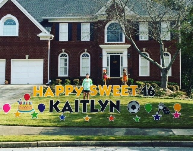 We Deliver Personalized Birthday Greetings To Your Yard Hire Us For Any Occasion The Best Company For Birth Yard Cards Birthday Yard Signs Birthday Greetings