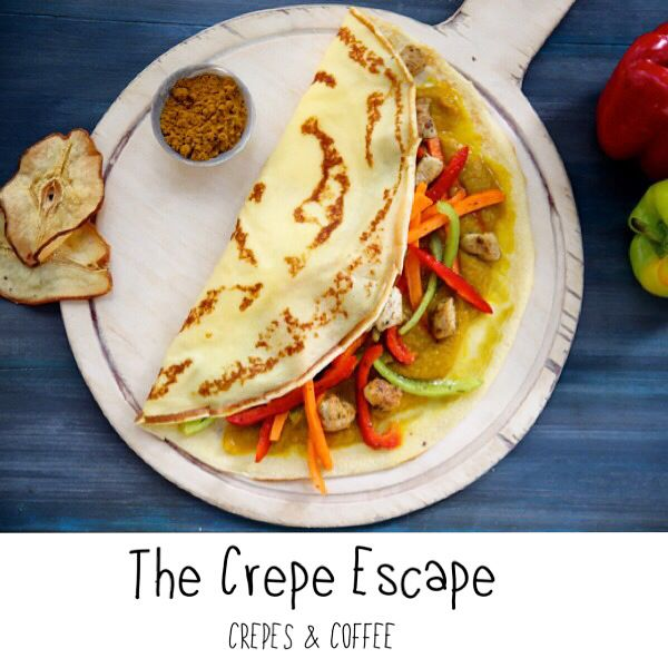 Bombay Crepe! Chicken, Curry and Peppers!