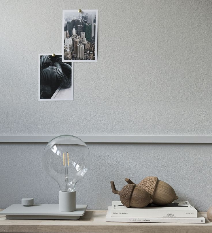 Muuto Control lamp and wooden Acorns by Alexander Ortileb. Availabel at www.grandpastore.com.