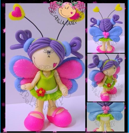 *SORRY, no confirmation given as to product used ~ Butterfly girl
